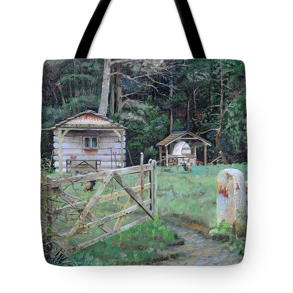 Pizza Hut, Beeley, Derbyshire, 2004 Oil On Canvas Tote Bag