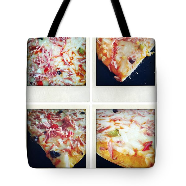 Pizza Tote Bag by Les Cunliffe