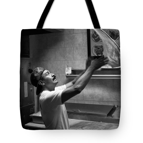 Pizza Toss Tote Bag
