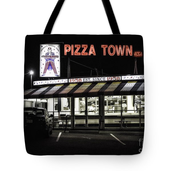 Pizza Town Tote Bag
