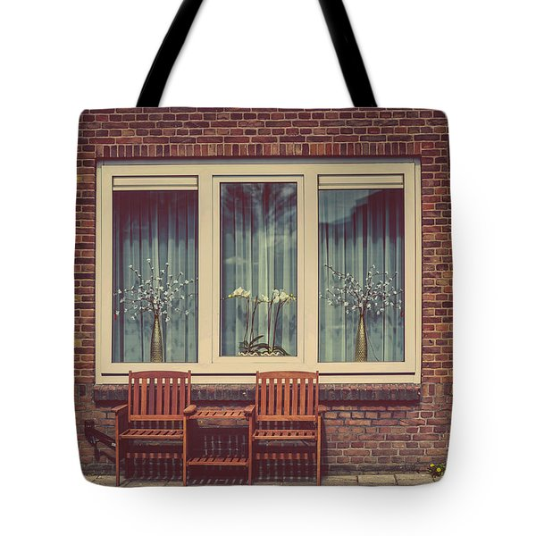 Place Just For Two. Pink Spring In Amsterdam Tote Bag by Jenny Rainbow