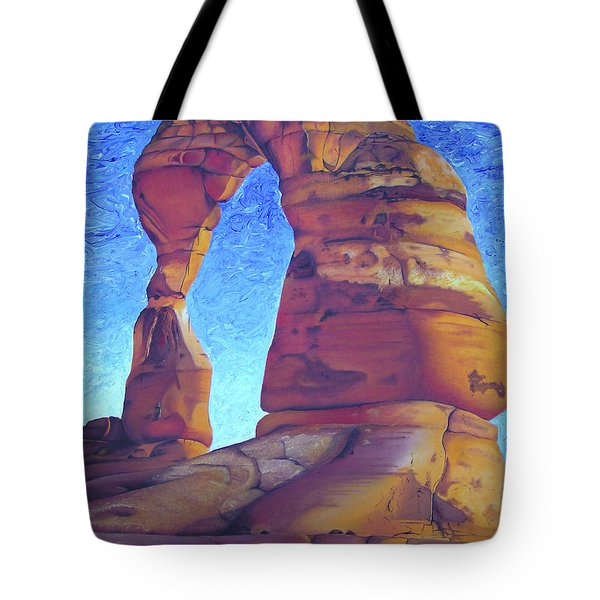 Tote Bag featuring the painting Place Of Power by Joshua Morton