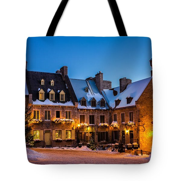 Place Royale Quebec City Canada Tote Bag by Dawna  Moore Photography