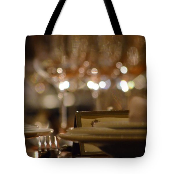 Place Setting 1 Tote Bag by Deprise Brescia