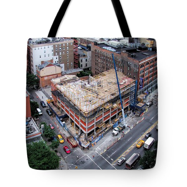 Placing Concrete Forms Tote Bag
