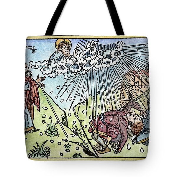 Tote Bag featuring the painting Plague Of Hail by Granger