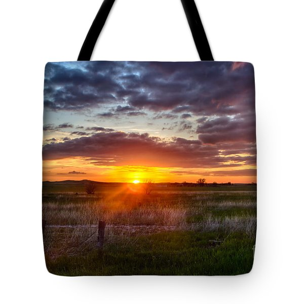 Plains Sunset Tote Bag