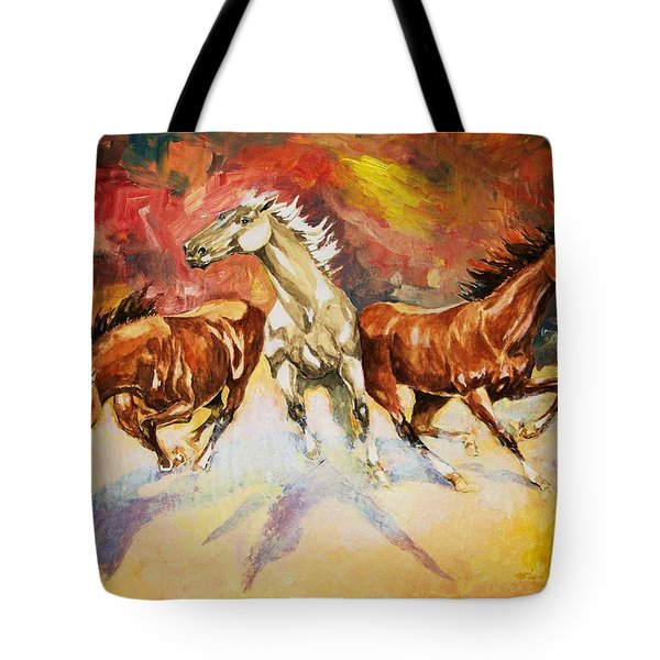 Plains Thunder Tote Bag by Al Brown