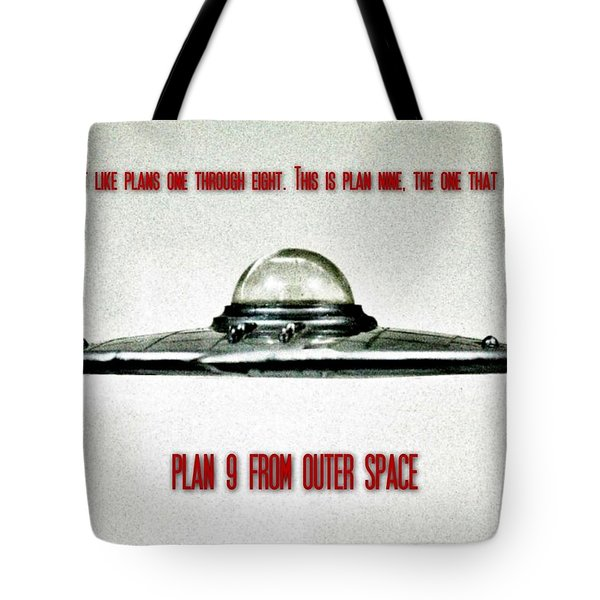 Plan 9 Seinfeld Tote Bag by Benjamin Yeager