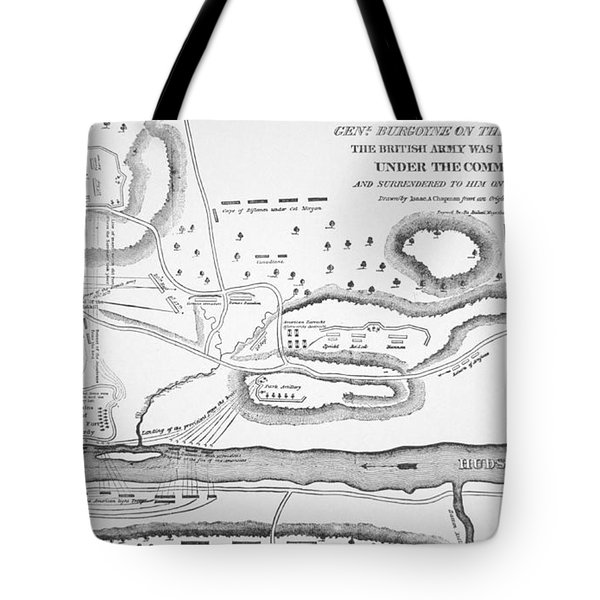 Plan Of The Battle Of Saratoga October 1777 Tote Bag by American School