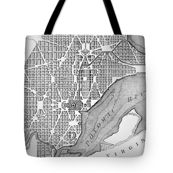 Plan Of The City Of Washington As Originally Laid Out In 1793 Tote Bag by American School