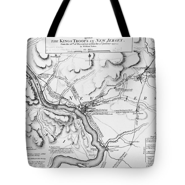 Plan Of The Operations Of General Washington Against The Kings Troops In New Jersey Tote Bag