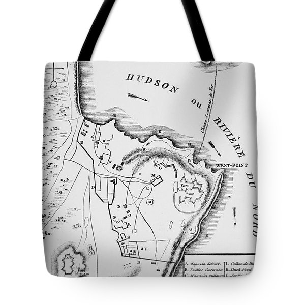 Plan Of West Point Tote Bag by French School