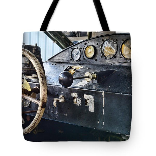 Plane Areocar Control Panel Tote Bag by Paul Ward