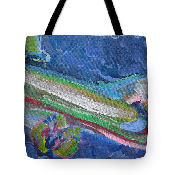 Plane Colorful Tote Bag