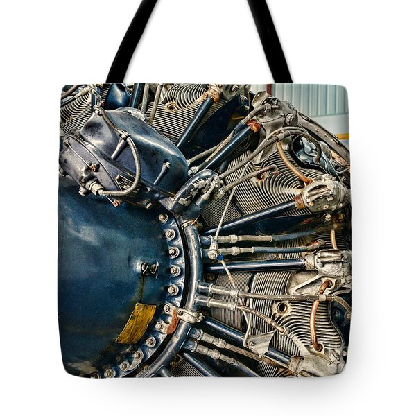 Plane Engine Close Up Tote Bag by Paul Ward