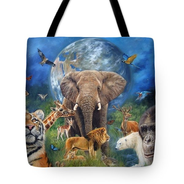 Planet Earth Tote Bag by David Stribbling