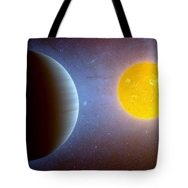 Planet Kepler10 Stellar Family Portrait Tote Bag by Movie Poster Prints