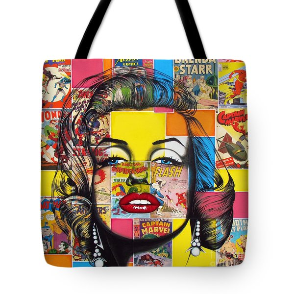 Planet Marilyn Tote Bag by Joseph Sonday
