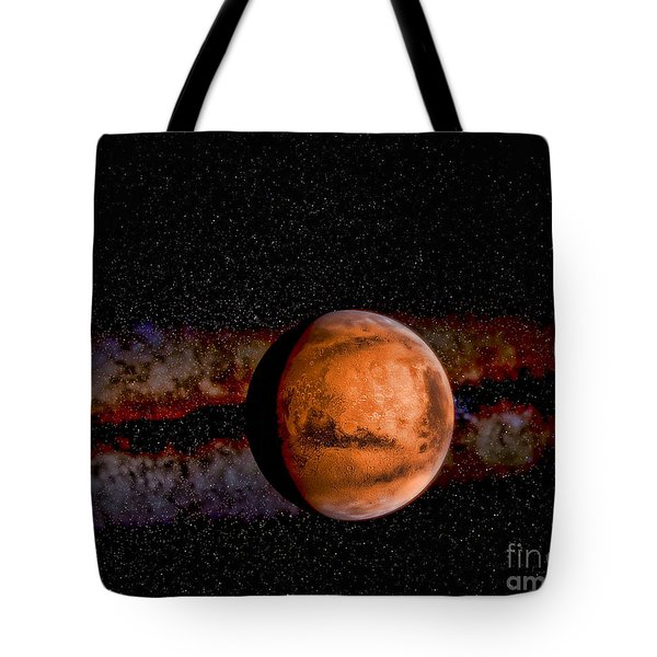 Planet - Mars - The Red Planet Tote Bag by Paul Ward