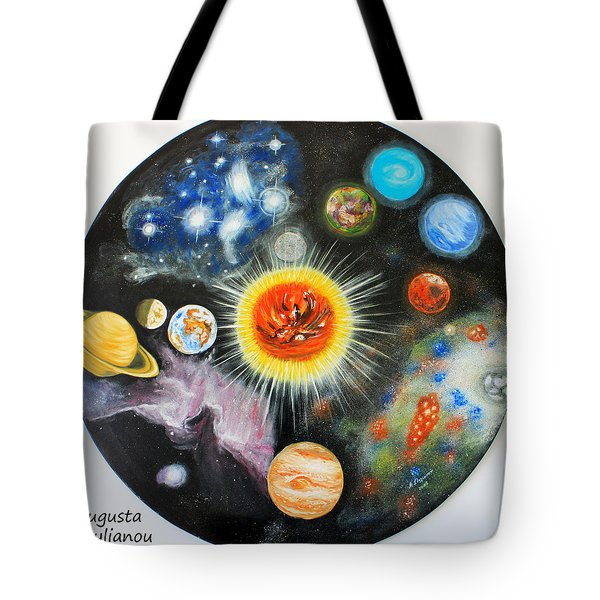 Planets And Nebulae In A Day Tote Bag by Augusta Stylianou