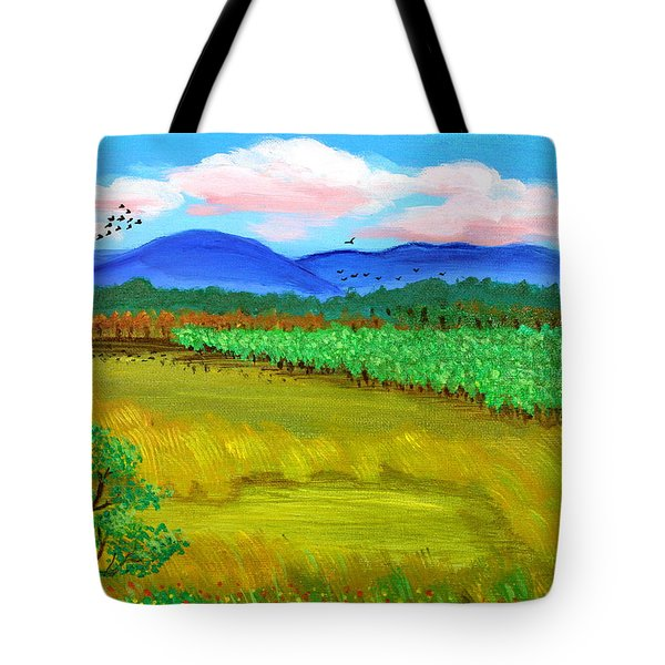 Tote Bag featuring the painting Plantation by Cyril Maza