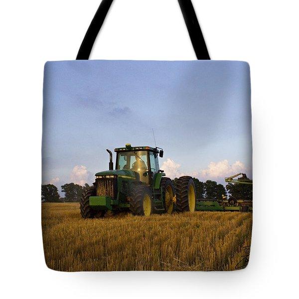 Planting Deere Tote Bag
