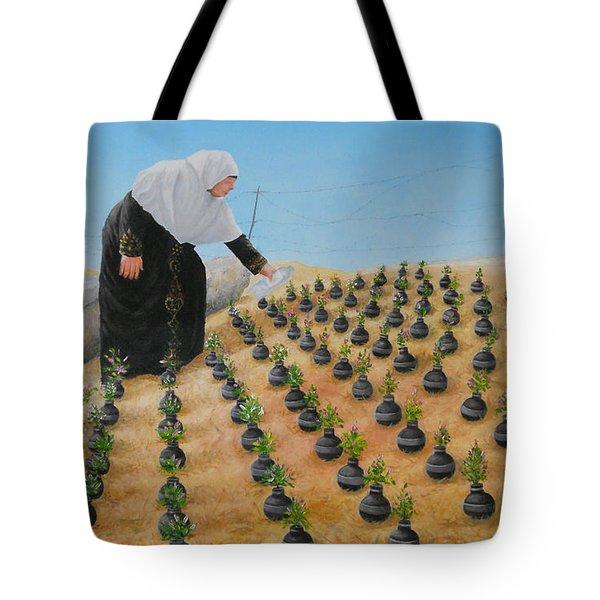 Planting Flowers Tote Bag by Angel Ortiz