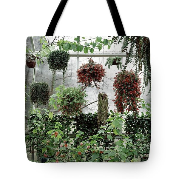 Plants Hanging In A Greenhouse Tote Bag
