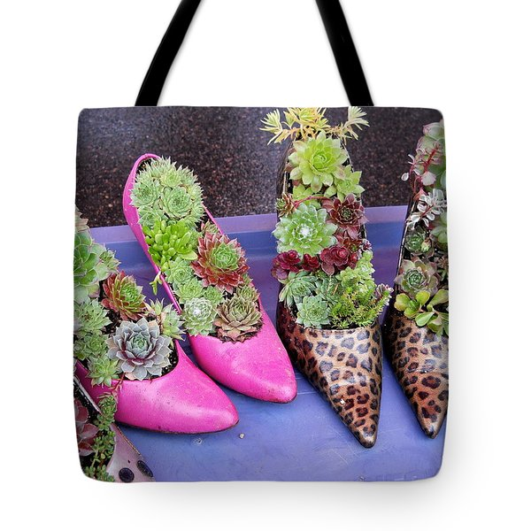Plants In Pumps Tote Bag