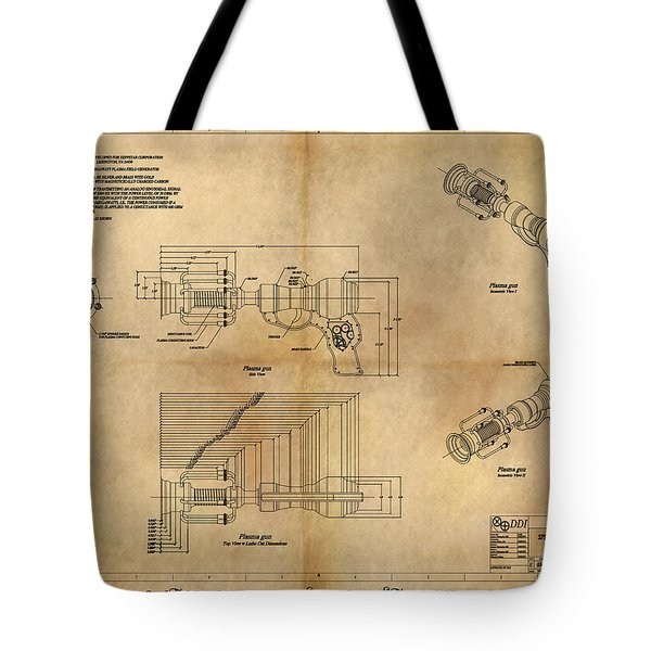 Plasma Gun Tote Bag by James Christopher Hill