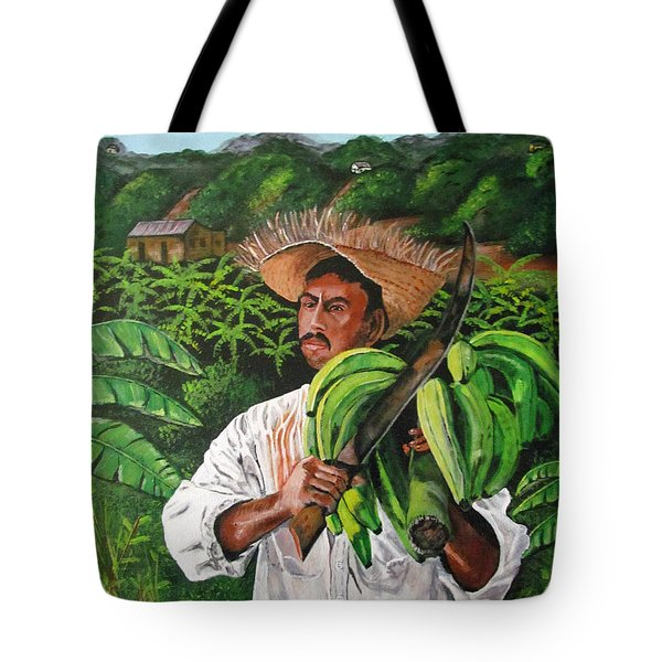 Platano Man Tote Bag by Luis F Rodriguez
