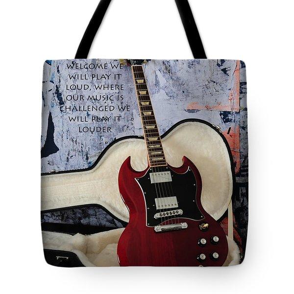 Play It Loud Tote Bag by Randi Grace Nilsberg