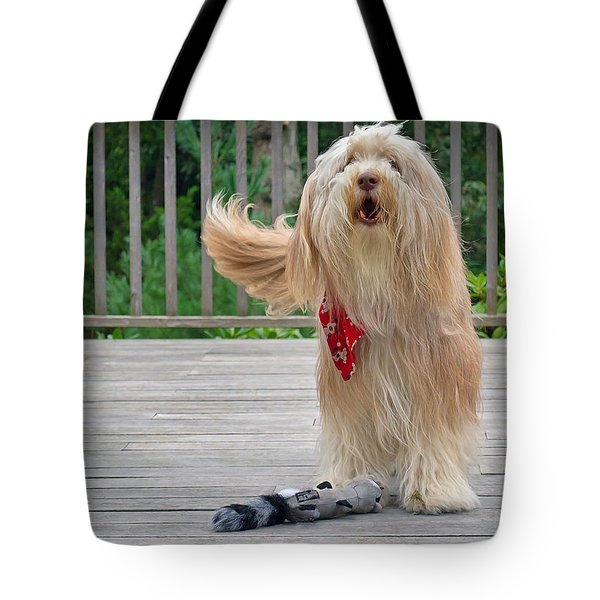 Play With Me Tote Bag by Keith Armstrong