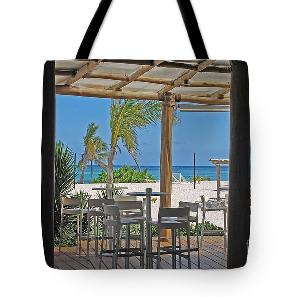 Playa Blanca Restaurant Bar Area Punta Cana Dominican Republic Tote Bag