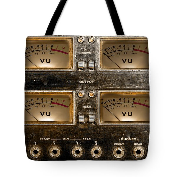 Playback Recording Vu Meters Grunge Tote Bag