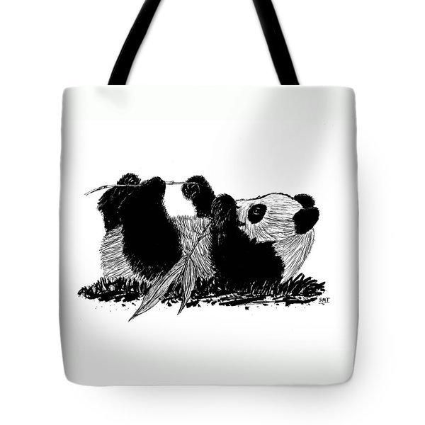 Playful Panda Tote Bag