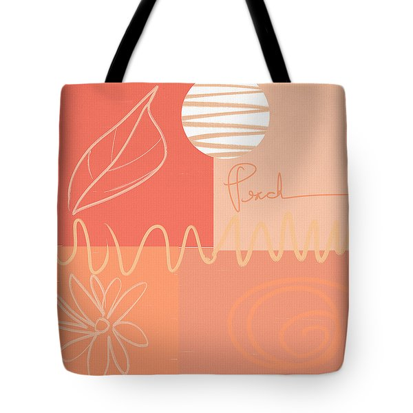 Playful Peach Tote Bag by Lourry Legarde