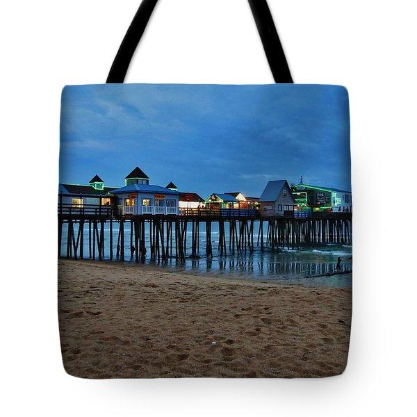 Playful Pier Tote Bag