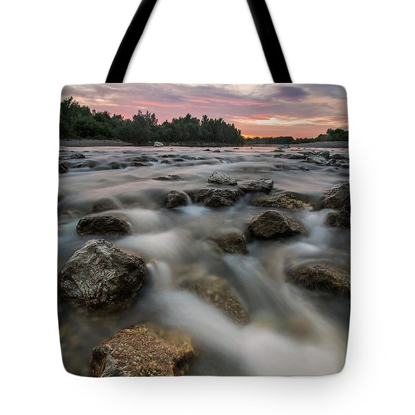 Playful River Tote Bag by Davorin Mance