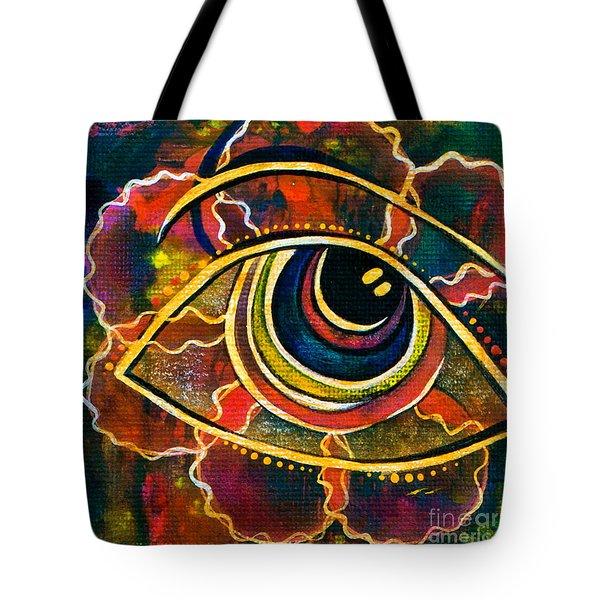 Tote Bag featuring the painting Playful Spirit Eye by Deborha Kerr