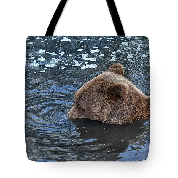Playful Submerged Bear Tote Bag