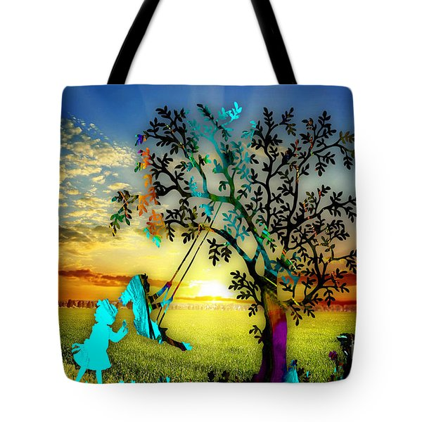 Playful Sunset Tote Bag by Marvin Blaine