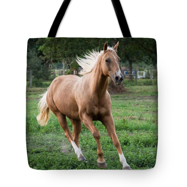 Playful Trot Tote Bag