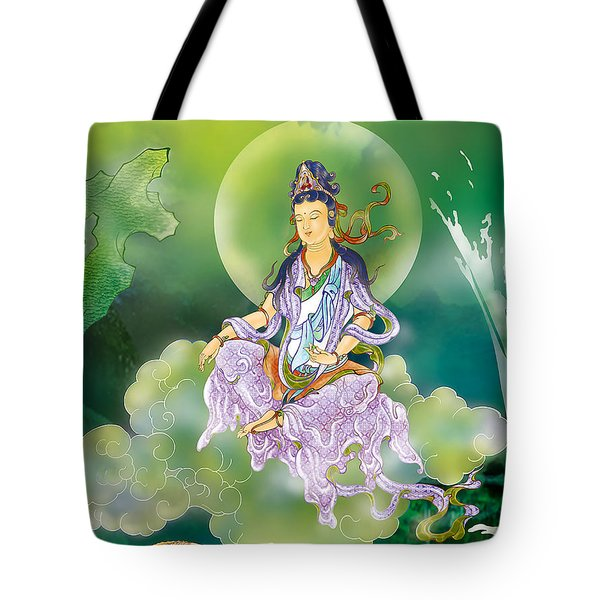 Playing Avalokitesvara   Tote Bag by Lanjee Chee