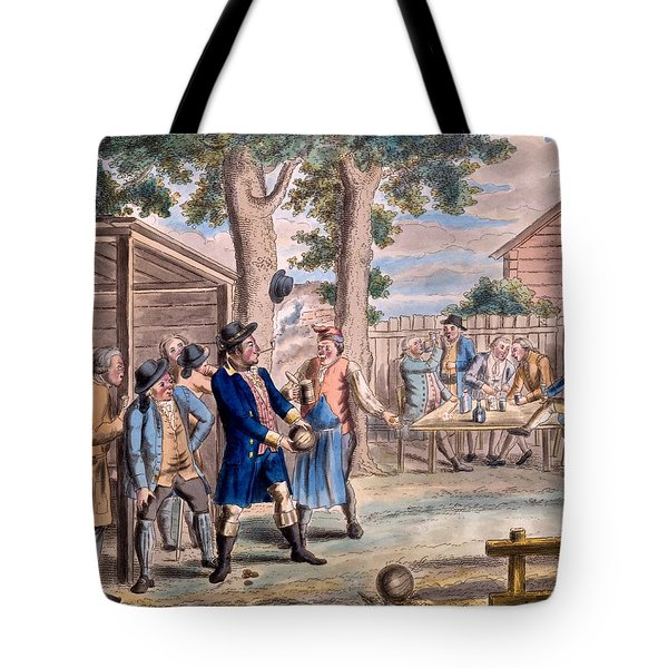Playing Bowls Tote Bag by Elis Chiewitz