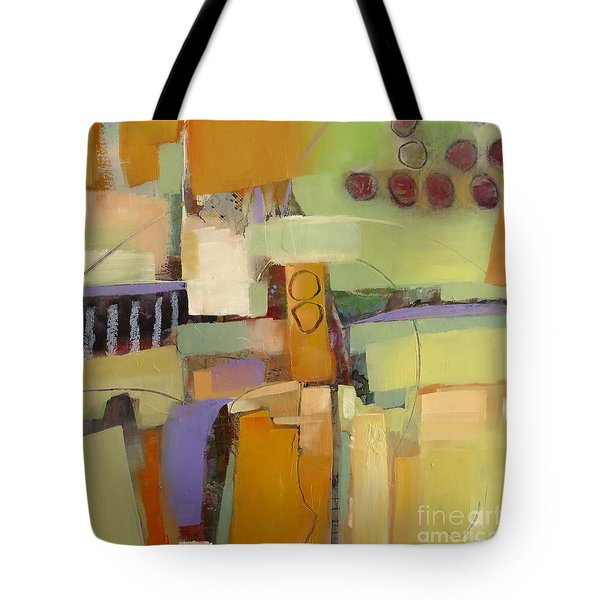 Tote Bag featuring the painting Playing By Ear by Michelle Abrams