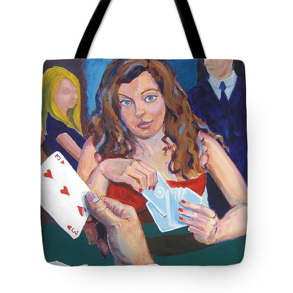 Playing Cards Tote Bag by Mike Jory