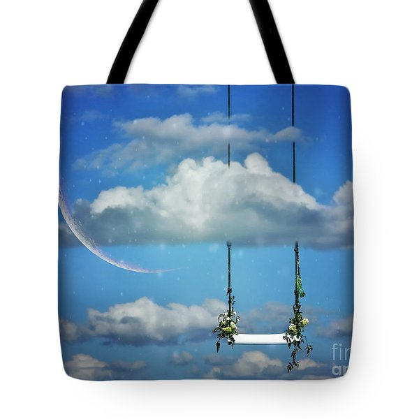 Playing In The Clouds Tote Bag by Andrea Kollo