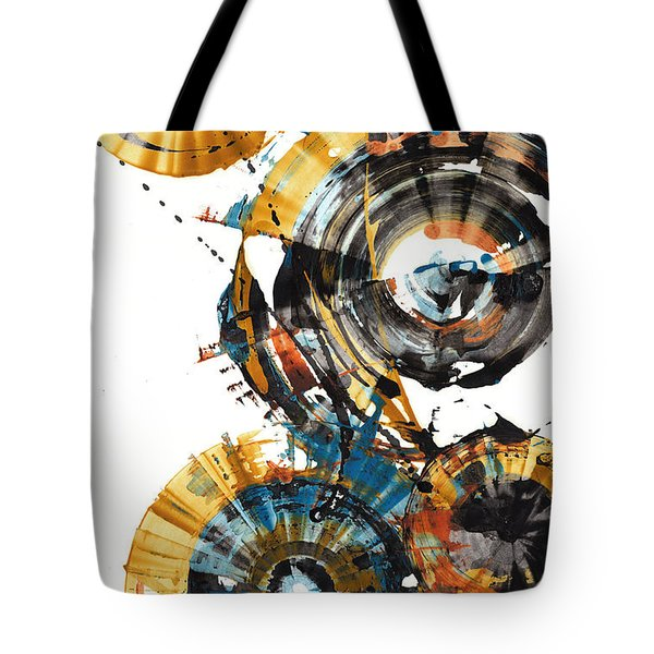 Tote Bag featuring the painting Playing In The Wind 1000.042312 by Kris Haas